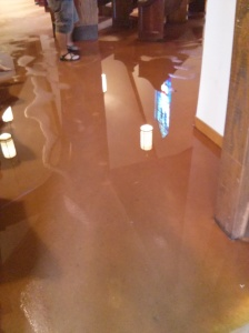 carpet flooded