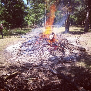 we had a continuous burn pile for three days