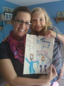Hannah and me with my birthday card