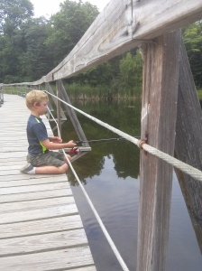 A boy and his fishing pole