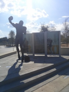 RGIII statue at McLane Stadium