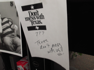 Bob's note for Texas!