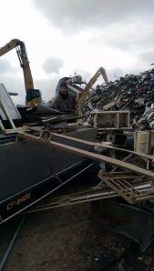 Graham at the scrap metal yard