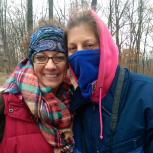 Marcy and me....it really wasn't that cold, I promise!