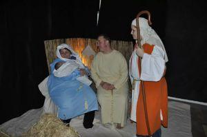 Mary, Joseph, Baby Jesus, and Shepherd