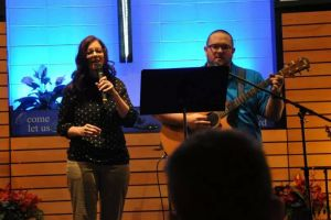 "We sang ""God With Us"" by All Sons and Daughters"