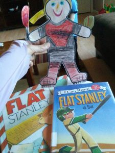 Reading about Flat Stanley's adventures
