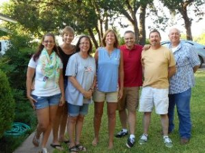 The 7 Hubbard cousins: Callie, Marcy, Carla, Leslie, Dustin, Judson, and Tom