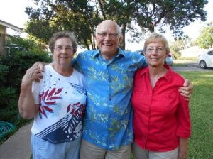 "The 3 original ""outlaws"" Charlene, Johnnie, and Mom"