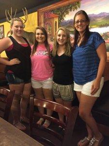Kimmy, Dana, Jaycie, and me
