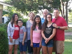 The Hitt family: Lisa, Jackson, Ila, Ava, Johnnie, Stephanie, and Dustin