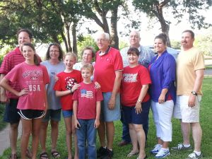 The Tom Hubbard Family: Mike, Meagan, Carla, Michelle, Clayton, Charlene, Tom, Tom, Julie, Mica, and Judson