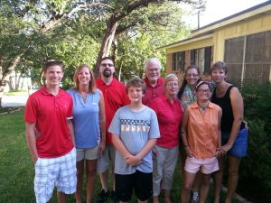The Paul Hubbard Family: Drake, Leslie, Scott, Grady, Dad, Mom, Callie, Kainani, and Marcy