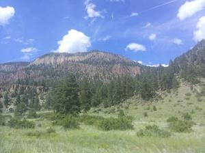 across the Slumgullion Pass