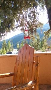 Hummingbird feeder on the porch