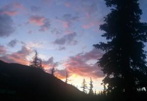 Colorado sunset at the Inn at the Lake