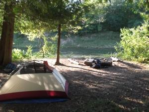Paul's tent (isn't it TINY)!?!
