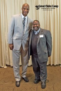 Darryl Strawberry and Dr. Washington (Dr. Washington is about 5'4'' and Darryl Strawberry is 6'6'')